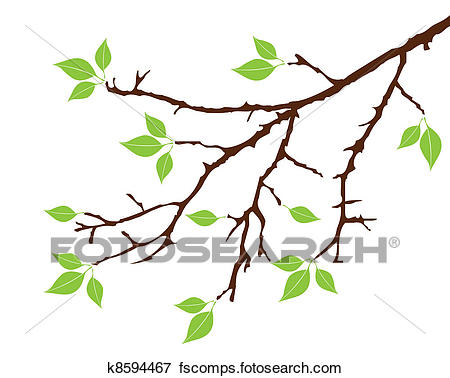 450x378 Clip Art Of Tree Branch K8594467