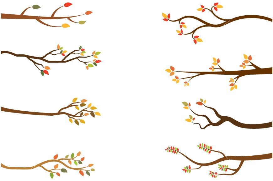 870x579 Fall Branch, Autumn Tree Branches Clipart, Bare Branches By