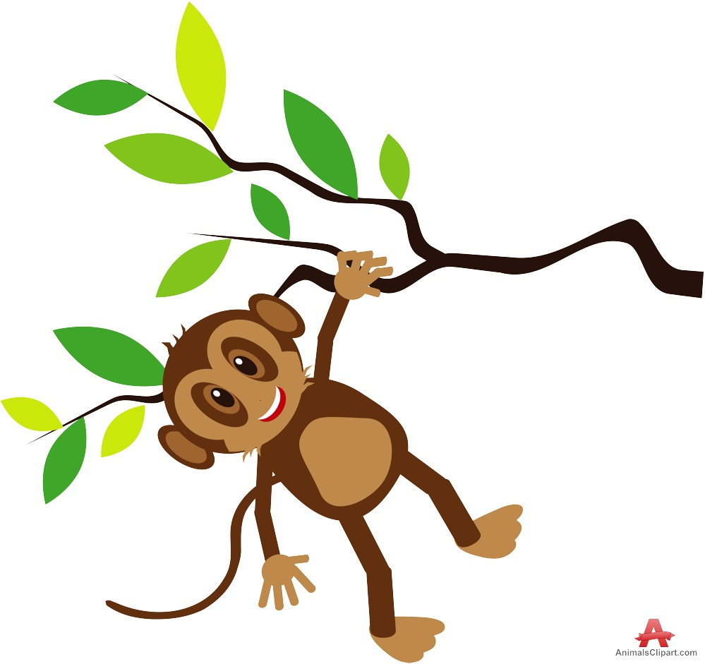 999x941 Happy Monkey Holding Tree Branch Clipart Free Clipart Design