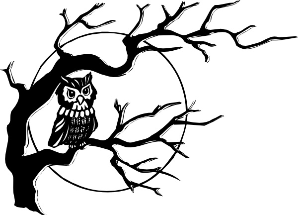 600x432 Owl On Tree Branch Clip Art Free Vector In Open Office Drawing Svg