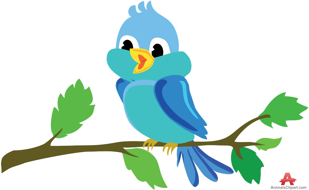999x614 Beautiful Bird Tweeting On Tree Branch Free Clipart Design Download