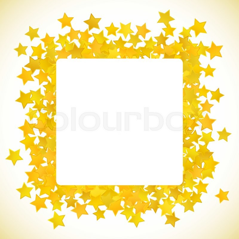 800x800 Abstract Yellow Star Background. Vector Illustration For Gold