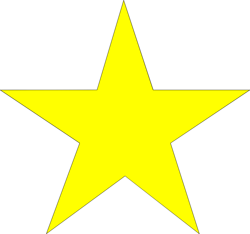 958x900 Star Free Stock Photo Illustration Of A Yellow Star