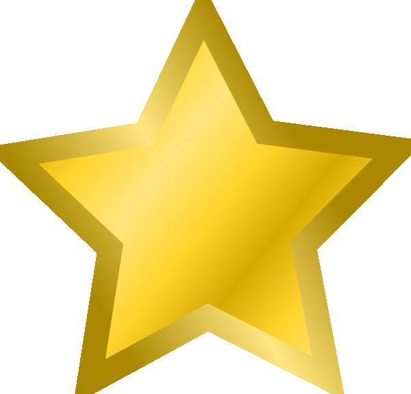 600x575 Yellow Star 3 Clip Art