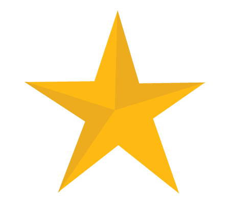 450x400 Yellow Star One Isolated Stock Photo By