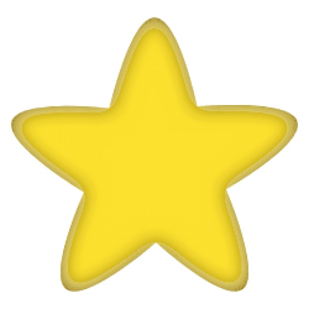 626x626 Yellow Star Vector Free Download