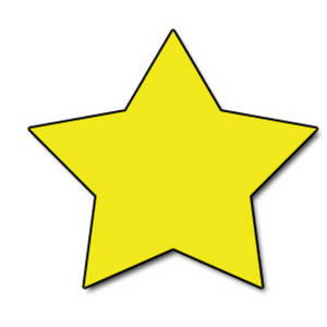 300x300 Clipart Picture Of A Bright Yellow Star