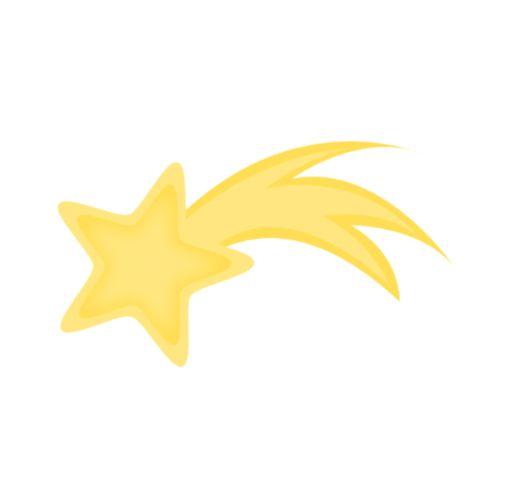 505x499 Drawn Shooting Star Yellow