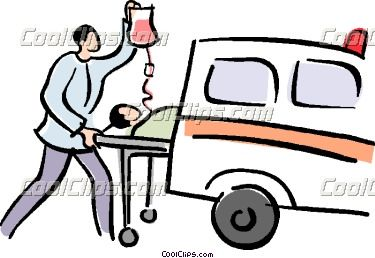 375x258 Ambulance Stretcher Clip Art Patient Being Loaded Into