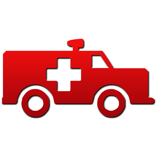 512x512 Ambulance Red Gradient Symbol Clipart Image