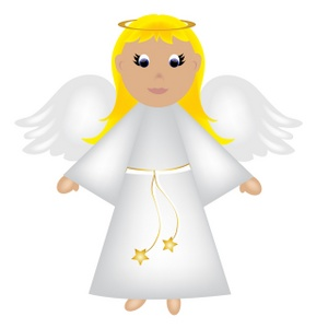 300x300 Angel Clipart Image Christmas Angel With Wings And A Halo Image