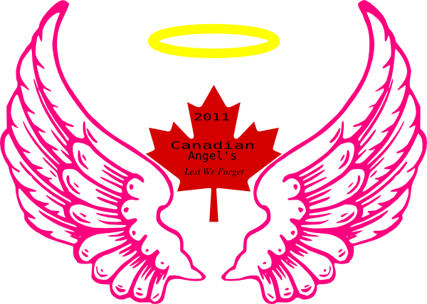 600x428 Canadian Wing Angel Halo Clip Art