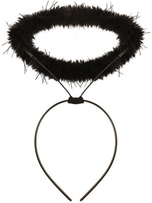 299x399 Halloween Fancy Dress Black Angel Halo Headband