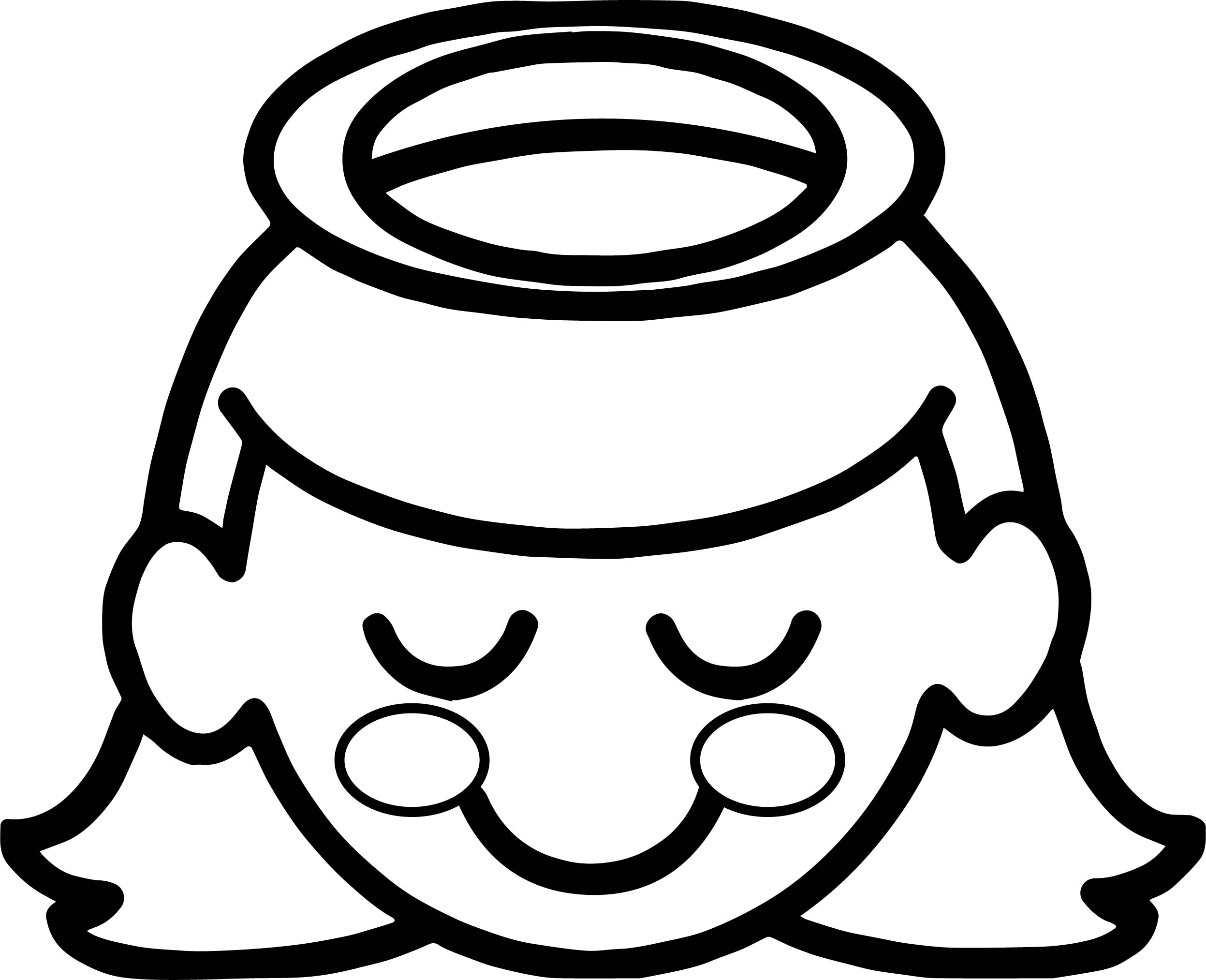 2494x2026 Halo A Little Girl Angel With Halo Over Her Head Coloring Page