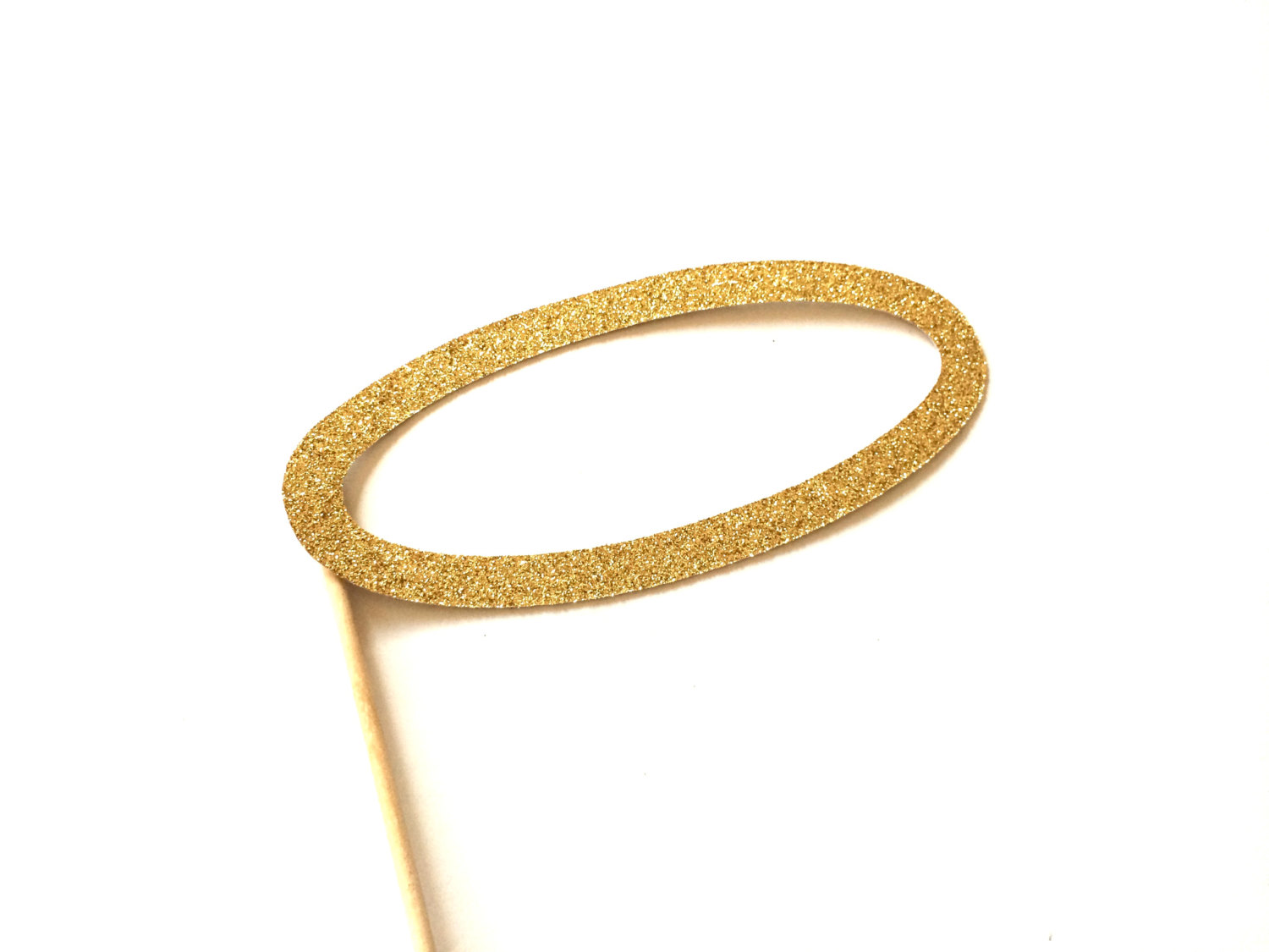 1500x1125 Photo Booth Props Angel Halo Gold Glitter Prop