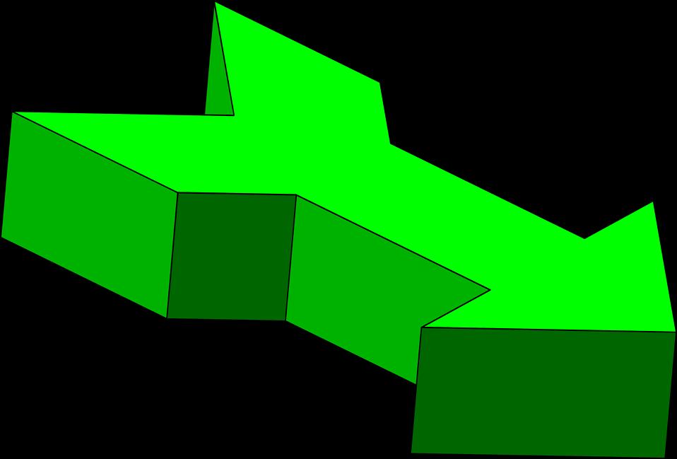 958x649 Arrows Green Free Stock Photo Illustration Of A 3d Green Arrow