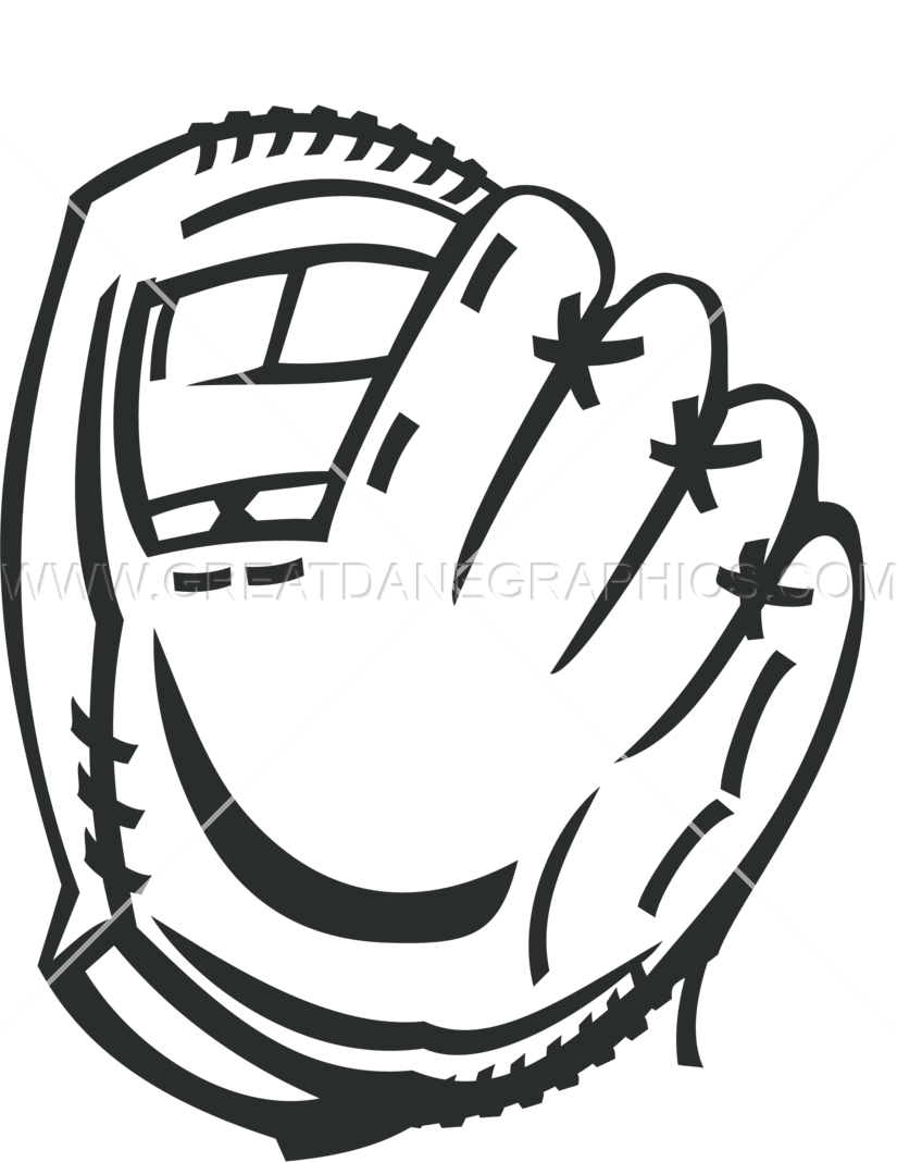 825x1068 Baseball Glove Production Ready Artwork For T Shirt Printing