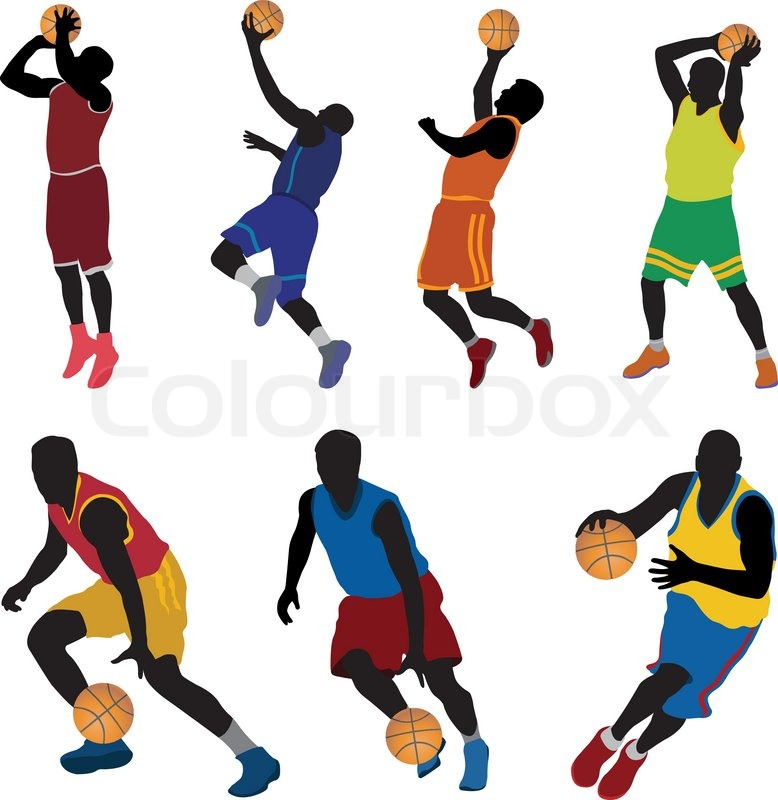778x800 Basketball Players Stock Vector Colourbox