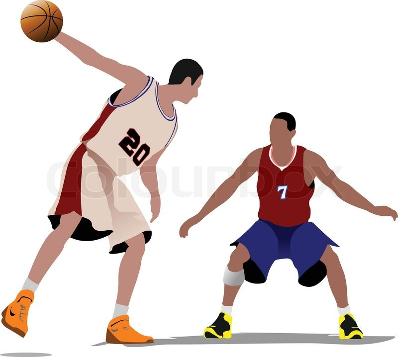 800x718 Basketball Players. Vector Illustration Stock Vector Colourbox