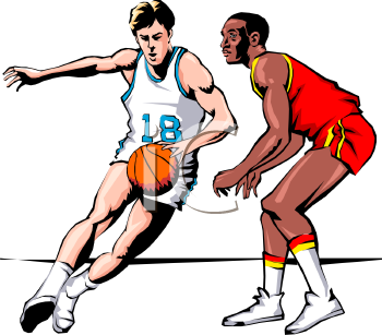 350x307 Clipart Basketball Player