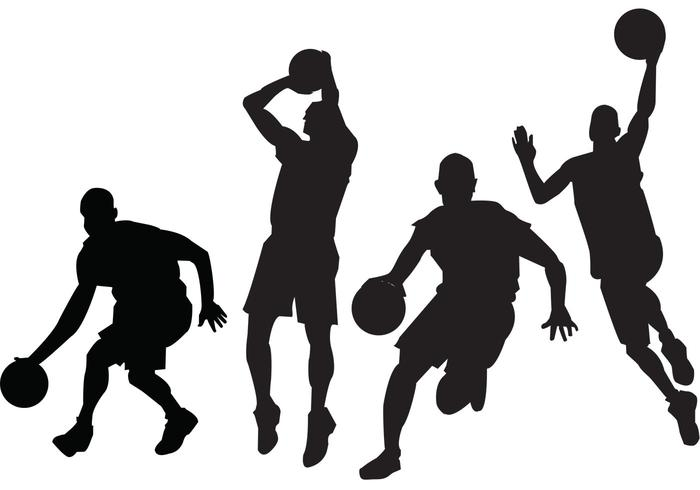 700x490 Free Basketball Players Vectors