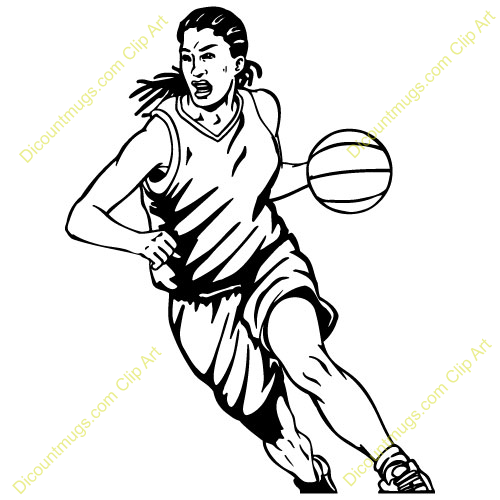 500x500 Girl Basketball Players Clipart