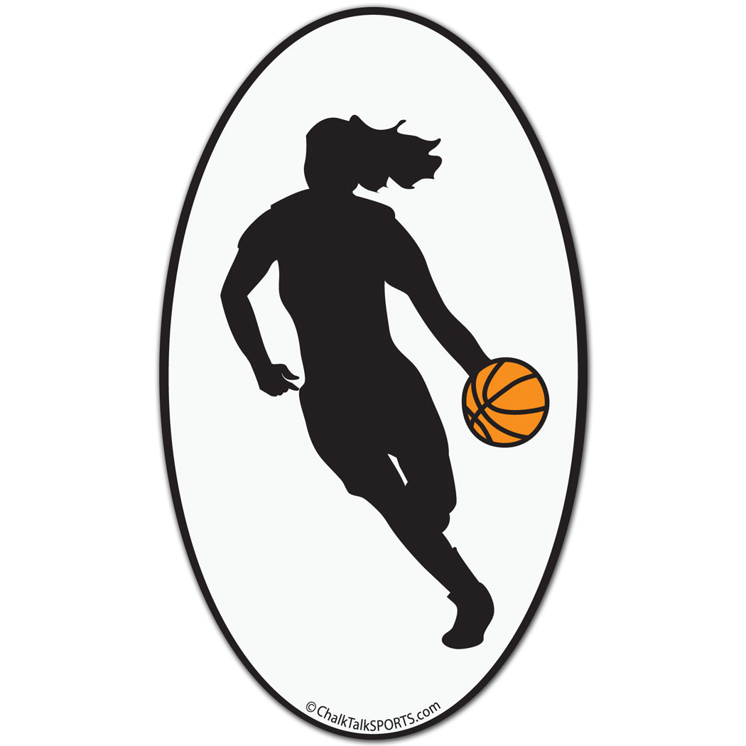 1050x1050 Girl Basketball Player Clipart