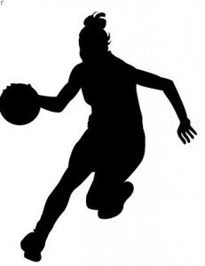 231x300 Girl Basketball Players Clipart