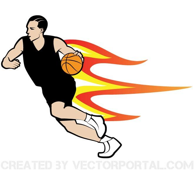 660x660 Basketball Player Clip Art Vector