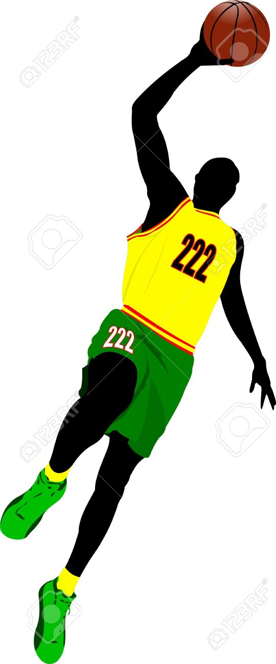 540x1300 Graphics For Basketball Player Color Graphics