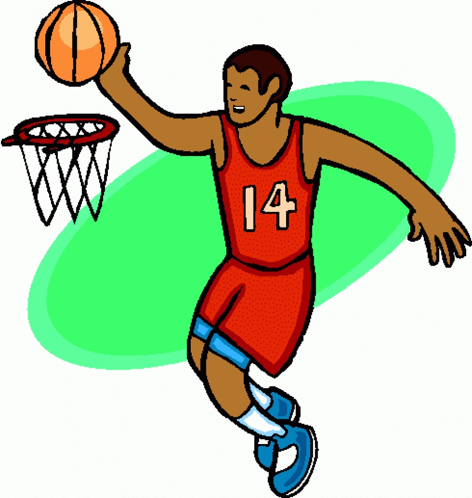 970x1024 Playing Basketball Clipart