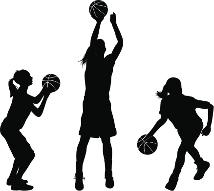 438x392 Women Basketball Players Clipart