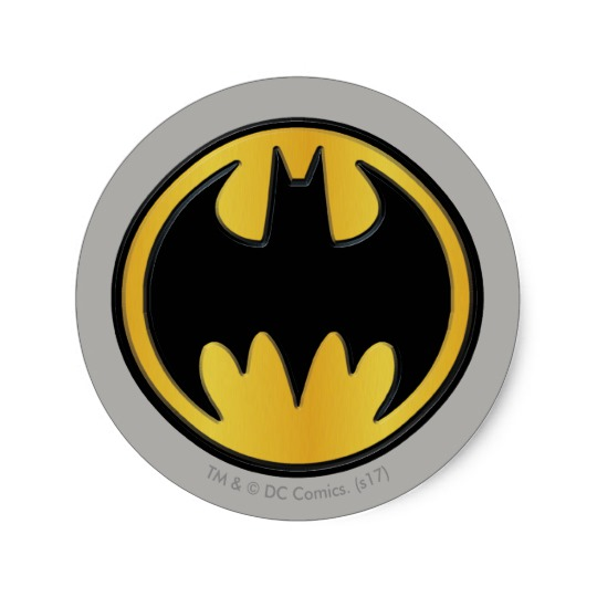 540x540 Batman Symbol Classic Round Logo Classic Round Sticker Zazzle.ca