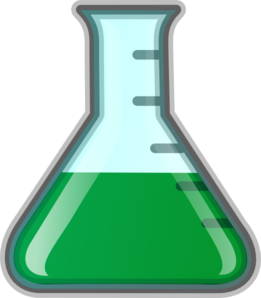 261x298 Beaker Green Clip Art