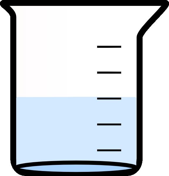 576x600 Water Blue Beaker Clipart
