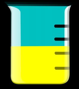 264x298 Yellow Beaker Clip Art