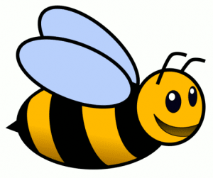 300x251 Bee Clipart Tired