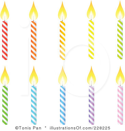 400x420 Birthday Candles Black And White Clipart