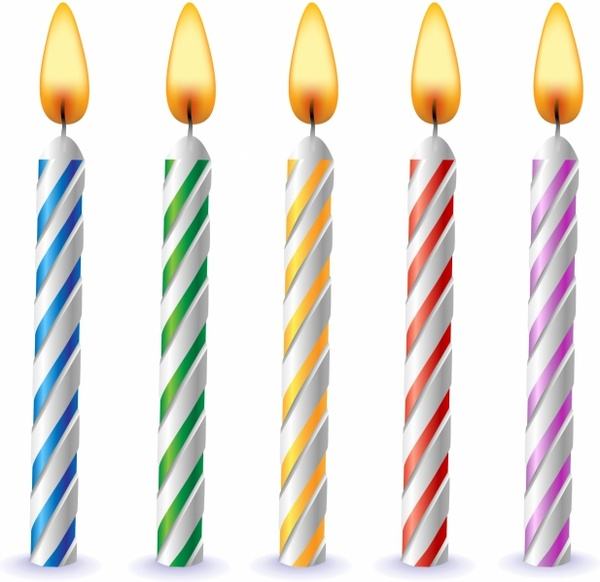 600x582 Birthday Candles Free Vector In Adobe Illustrator Ai ( Ai