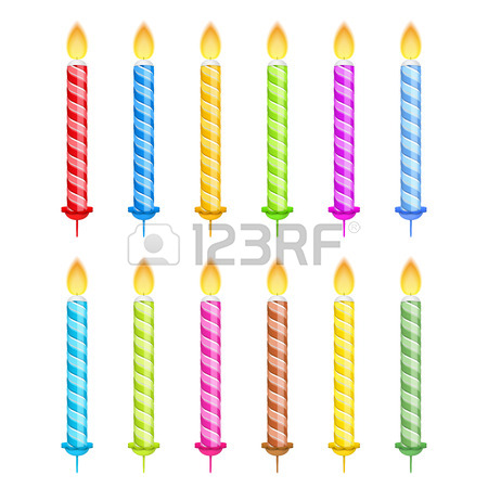 450x450 Birthday Candles On White Background Royalty Free Cliparts