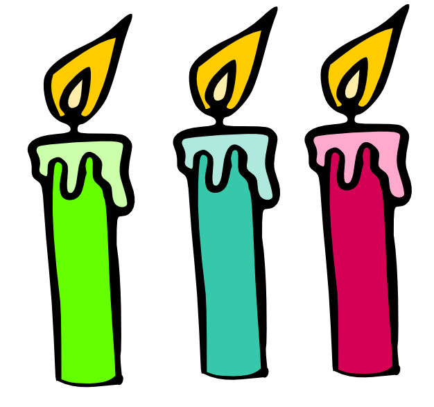 626x587 Birthday Candle Clipart 4 Of Birthday Candles Clip Art Image