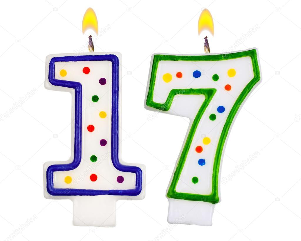 1024x819 Birthday Candles Number Seventeen Stock Photo Vladvm