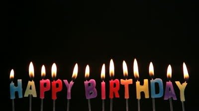 400x224 Happy Birthday Font Candle
