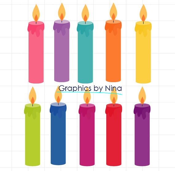 570x559 Instant Dowload Birthday Candles Clipart Birthday Clipart