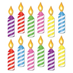 250x250 Mini Birthday Candle Cutouts Clip Art Birthdays