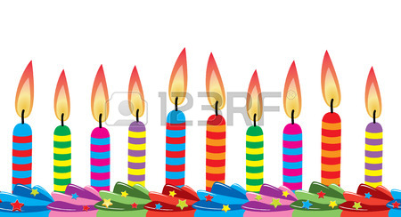 450x244 Row Of Birthday Candles On Cake Royalty Free Cliparts, Vectors