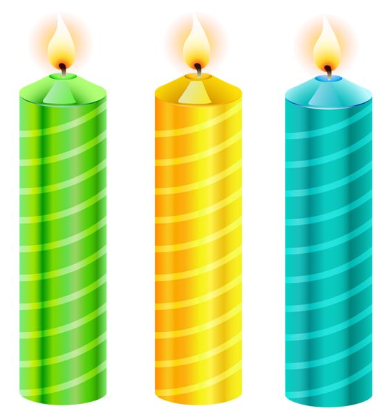 564x600 Vector Clipart Birthday Candles And Candles