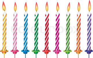 320x199 Vector Set Of Colorful Birthday Candles Stock Vector Colourbox