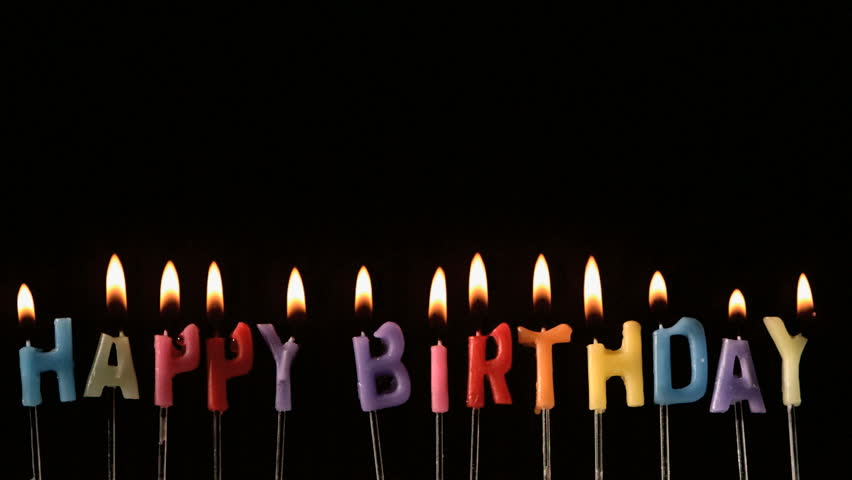 852x480 Birthday Candle Stock Footage Video Shutterstock