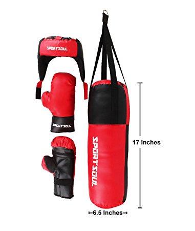 381x450 Buy Sportsoul Kid's Boxing Set (Punching Bag, Gloves Amp Headgear